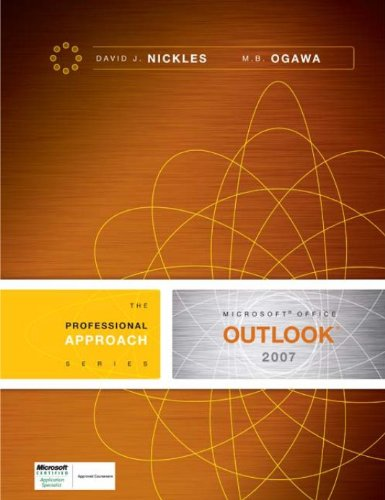Download Microsoft Outlook 2007: A Professional Approach Pdf