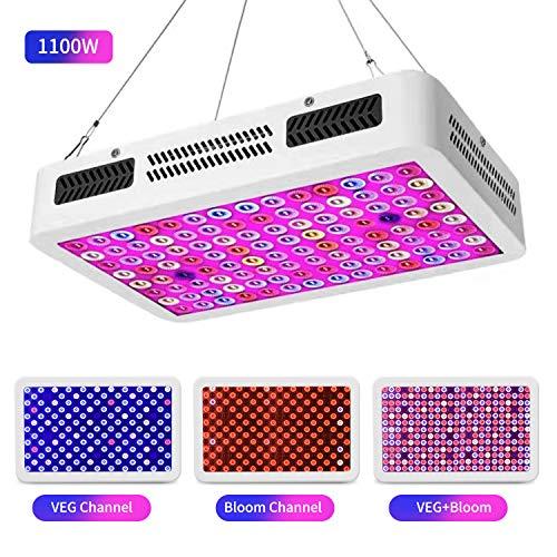 LED Grow Light, 1100W Full Spectrum Grow Light for Indoor Plants, Double Switch Plant Light for Veg and Flower(10W LEDs 112pcs)