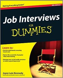 Job Interviews For Dummies: Joyce Lain Kennedy: 9781118112908 ...