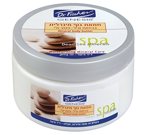 WOMAN GIFT Shea Body Butter DEAD SEA MINERALS SPA by Dr. Fischer - Special Complex of Oils, Minerals and Vitamins: Shea butter, Olive Oil, Almond Oil, Omega 3 & 6, Vitamin C & E