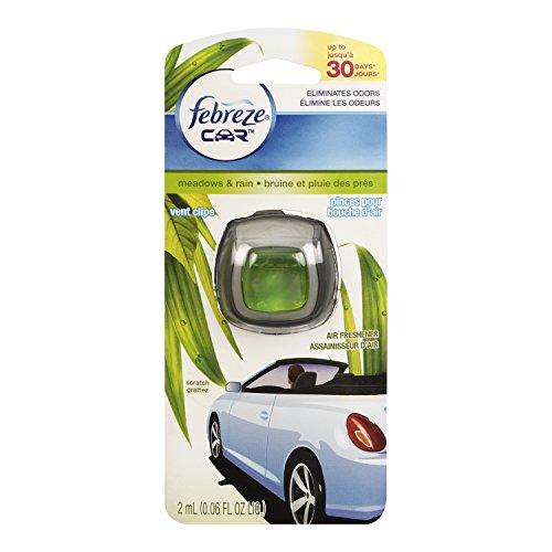 Febreze Car Vent Air Freshener, Meadows and Rain, 0.06 Ounce