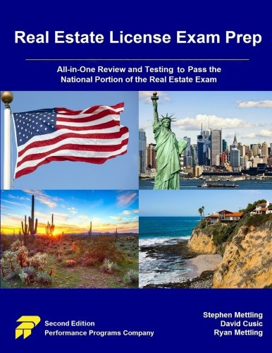 Real Estate License Exam Prep: All-in-One Review and Testing to Pass the National Portion of the Real Estate Exam (California Real Estate Broker Exam Study Guide)