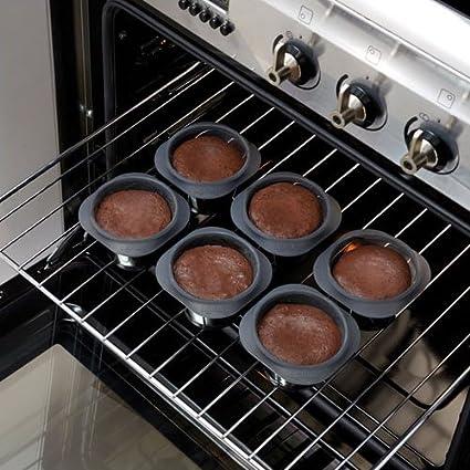 Amazon.com: Lekue Silicone Molten Lava Cake Mold, Model # 2413006N06M017, Set of 6: Baking Molds: Kitchen & Dining