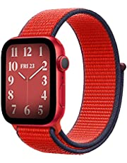 Nylon Loop Band Apple Watch 40mm / 38mm Series 1/2/3/4 Replacement Strap Wristband Bracelet - Red Black