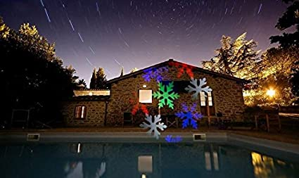 Colorful Christmas Lights On House.Amazon Com Summitlink Colorful Snow Shower Laser Christmas