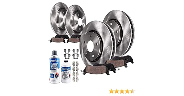 2008 2009 2010 for Nissan Altima Disc Brake Rotors and Ceramic Pads Rear