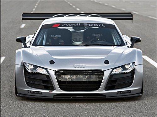 (Audi sport windscreen sun stripe decal 950 mm (white Ð red))