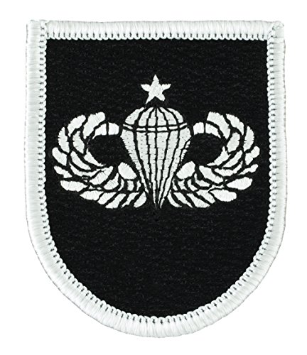 5th Special Forces Group Beret Flash - w/ Senior Airborne Wings Embroidered Patch 2