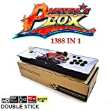 Longshow Arcade Video Game Console, 1388 in 1 Box 6s Retro Pandora's Video Games Latest System with HDMI Console VGA USB Console Light Light Double