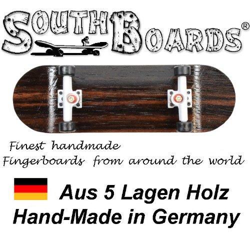 Komplett Fingerskateboard OAK/WS/SWZ SOUTHBOARDS® Handmade Wood Fingerboard Echtholz SOUTHBOARDS Deutschland #90321 OAK-WS-SWZ