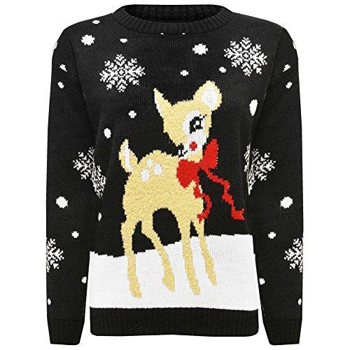Bambi Femme Pull Black Deer Catch22 qE0Sn