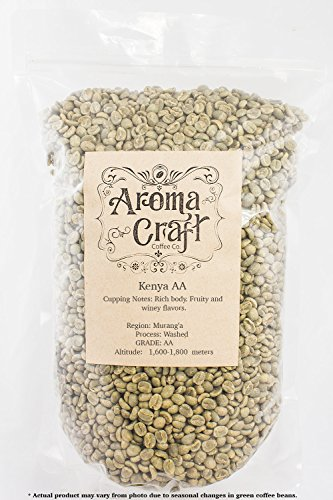 Kenya AA Washed Unroasted Green Coffee Beans (5 LB)