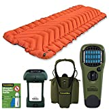 Klymit Insulated Static V Sleeping Pad (orange / grey) bundle