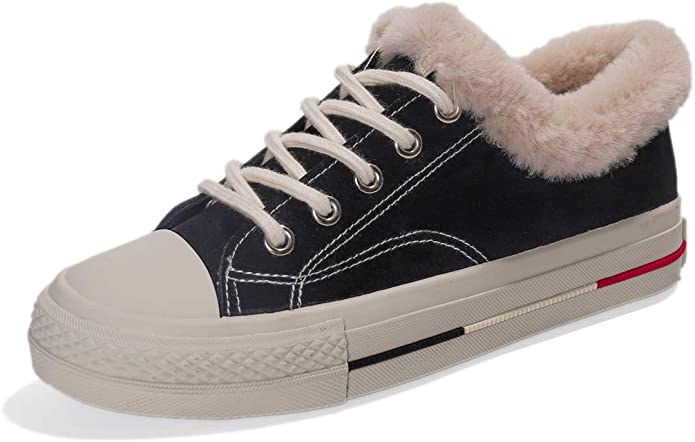 Orlancy Womens Fur Lined Sports Winter Snow Boots Sneakers