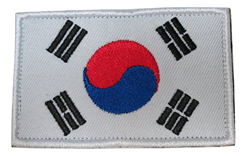 TrendyLuz South Korea Korean National Country Flag Embroidered Hook & Loop Patch