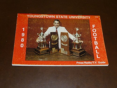 1980 YOUNGSTOWN STATE COLLEGE FOOTBALL MEDIA GUIDE BOX - Youngstown Box