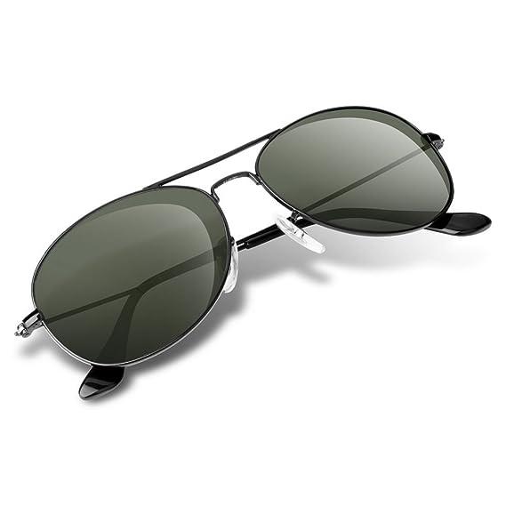 Wenlenie Gafas de sol estilo aviador redondo unisex, sombras pequeñas para mujeres