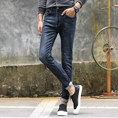 Uomo Slim R Fit Da Usedlook Leisure Blaugrau Stretch Pantaloni Jeans Fashion Hren Pants Giovane dBtqnd