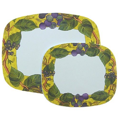 Corelle Coordinates Tuscan Vine Counter Mats , Set of (Corelle Burner Covers)