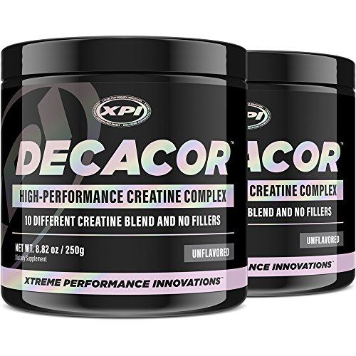 Decacor Creatine 2 Pack – Best Creatine Powder – 10 Creatine Blend – Top Creatine Supplement – Enhance Muscles, Power and Recovery