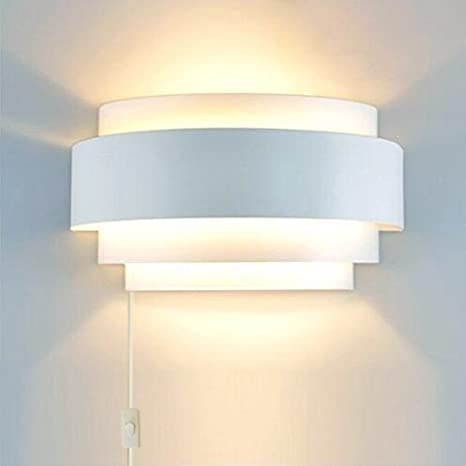 Kiven Modern LED Plug In Wall Light Sconce Up Down Wall Lights Wall Lamp E26