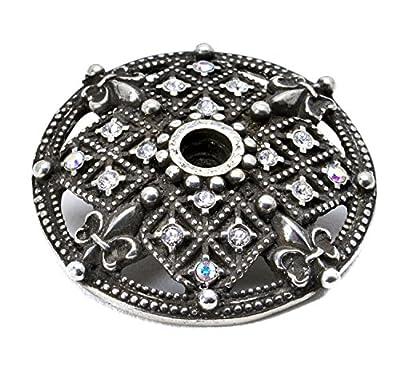 Carpe Diem Hardware 7628-9CAB Versailles Large Round Escutcheon with Swarovski Crystals, Chalice