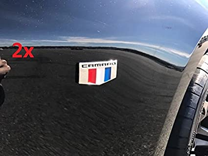 1x OEM SS Emblem Badge Sticker 3D For Camaro Chevrolet GM series Glossy White
