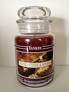 Amazon.com: Yankee Candle 22 oz Jar Black Band Frankincense ...