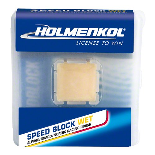Holmenkol Speedblock Pure Fluoro Wax: Wet: 15 grams by Holmenkol