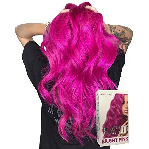 Play 'Do Urban Hair Color Bright Pink 180 ml, Hair color cream, Permanent hair color, Hair dye, Highlights