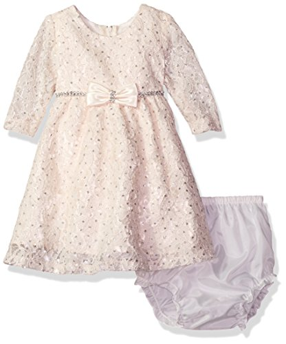 Rare Editions Baby Girls' Social Fancy Dress, Ivory, (Fancy Baby Panties)