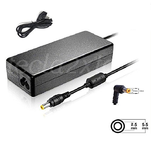 IFINGER Cargador Adaptador Toshiba DE 19V 4.74A 5.5 2.5 90W 19V 4.74A 5.5 mm 2.5 mm 90w AC compatibles con Cable de Corriente Incluido