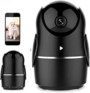 AriTan WiFi Camera-1080P HD Home Security Camera Pan/Tilt/Zoom, Pet Camera Baby Monitor Motion Track Night Vision iOS/Android App Available (Black)
