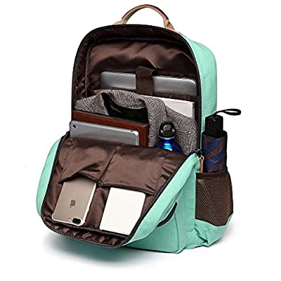 School Backpack Vintage Canvas Laptop Backpacks Men Women Rucksack Bookbags