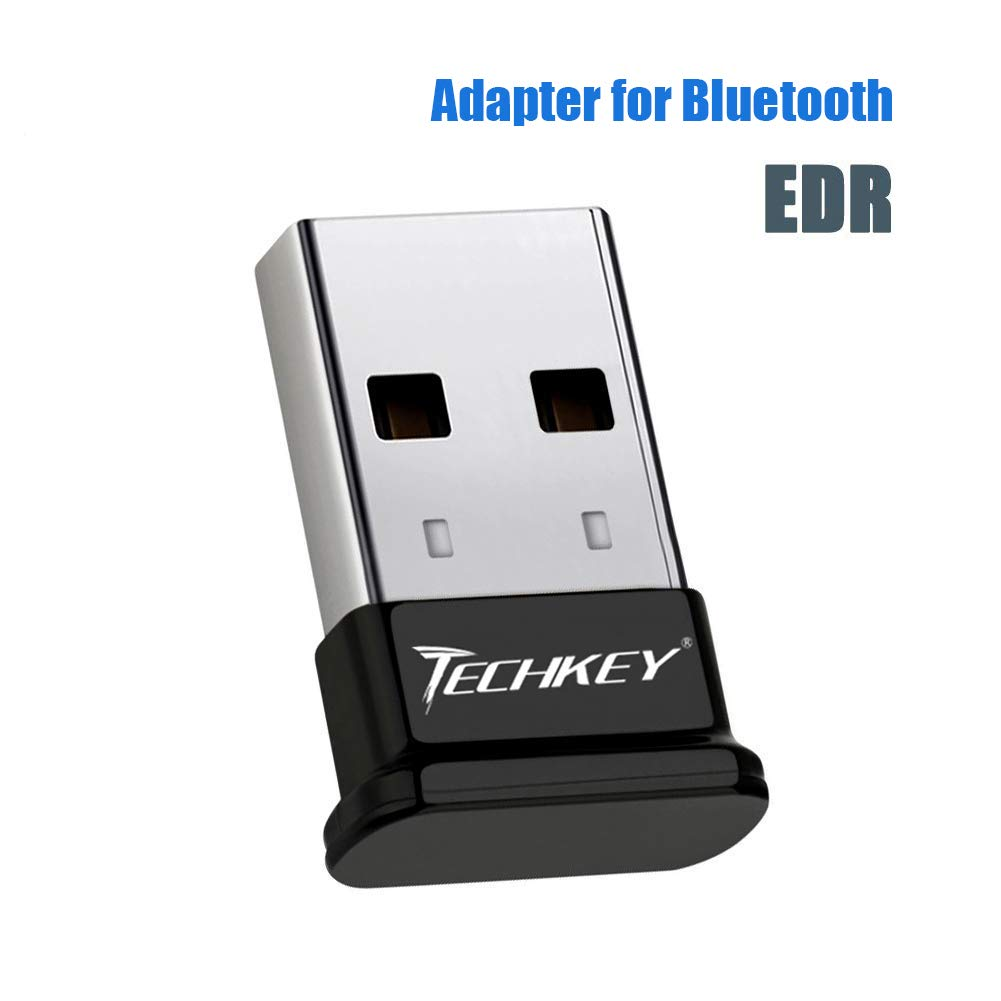 Bluetooth Adapter for PC USB Bluetooth Dongle 4.0 EDR Receiver TECHKEY Wireless Transfer for Stereo Headphones Laptop Windows 10 Linux Compatible 7 8 8.1 Raspberry Pi