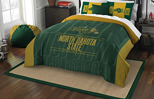 The Northwest Company Officially Licensed NCAA North Dakota State Bison Modern Take Full/Queen Comforter and 2 Sham Set