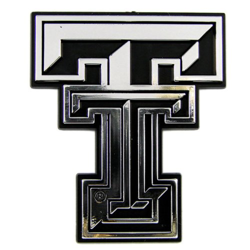 Texas Tech Red Raiders NCAA Chrome 3D for Auto Car Truck Emblem Decal Sticker College Officially Licensed Team Logo
