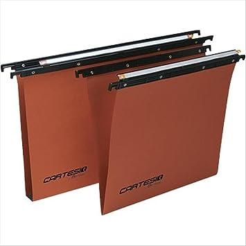 Bertesi 100/395 3 - B2 Poliestireno Naranja archivador colgante - Carpeta (Poliestireno, Naranja, 398 mm, 50 cm): Amazon.es: Oficina y papelería