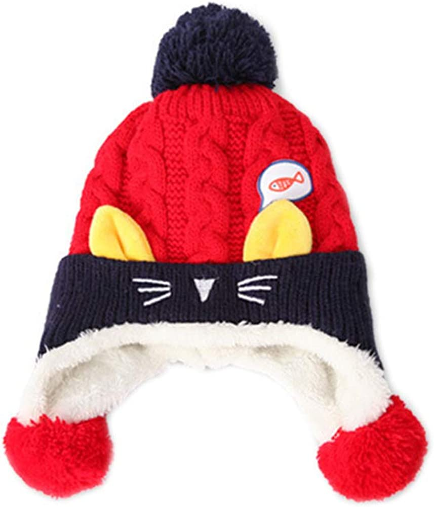 Winter Warm Hats Cute Cat...