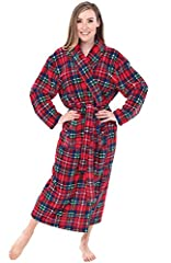 This thick, non-hooded full length microfiber robe for women from Alexander Del Rossa is made from premium microfleece fabric. Our 15 ounce polar fleece is ultra soft, lightweight and durable to keep you warm without weighing you down for yea...