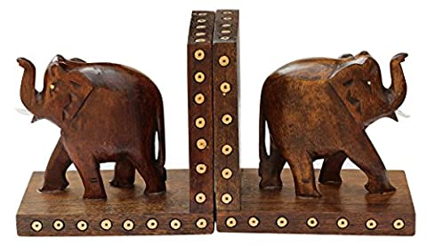 SouvNear Wooden Book Ends - Book Organizers - Home Decor / Study Room Accessories - Arts and Crafts / Table Decor / Figurines / Gifts for Kids , Women , Men