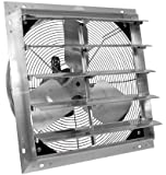 """VES 16"""" Exhaust Shutter Fan, Wall Mount, 1/10 Hp, W/9' Cord"""