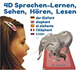 4D Flashcards - Interactive Educational game in 9 Languages with 50 Flashcards und 50 Pop-Up Characters for Children from 3 to 10 years old. First Words: Wild and Farm Animals, Vehicles, Fruits, Vegetables. Basic Vocabulary Development. Free APP for iOS, Android.