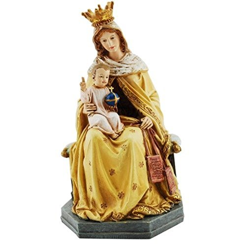 Our Lady of Mt Mount Carmel Scapular Statue, 8 Inch (Of Our Lady Carmel Scapular Mount)