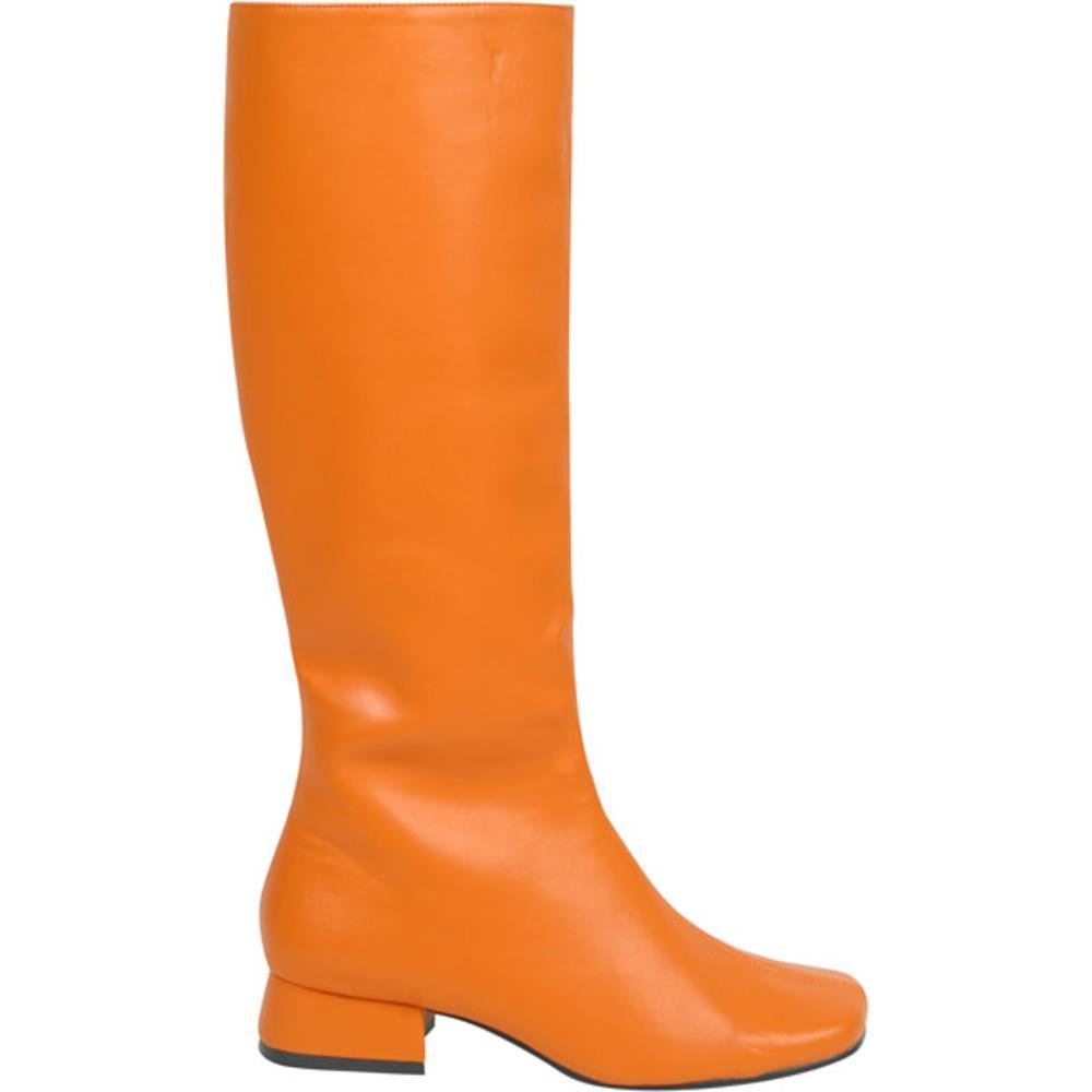 Adult's Long Orange Go Go Boots (Size: Small 5-6)