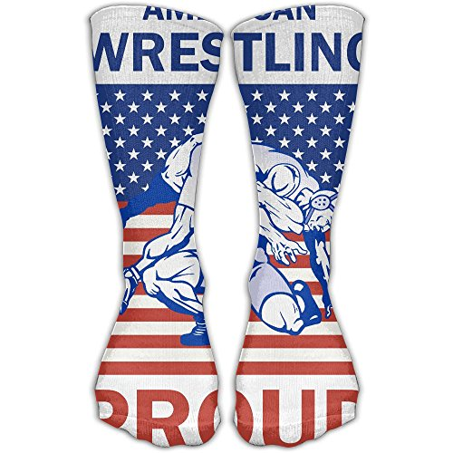 - SARA NELL Classics Compression Socks American Wrestling Proud Wrestler Personalized Sport Athletic 30cm Long Crew Socks For Men Women