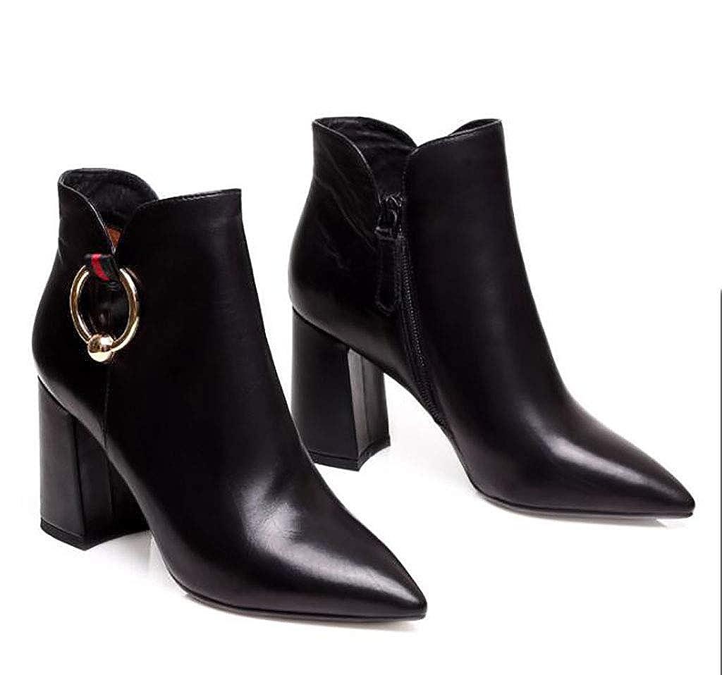 Herbst und Winter Damenschuhe dick mit Stiefeln Stiefel