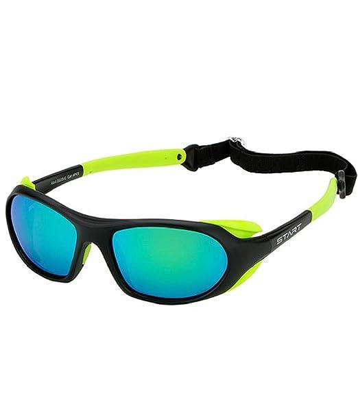 gafas de sol de glaciares polarizado Cat 4 con de objetivo y elástico – Color Negro