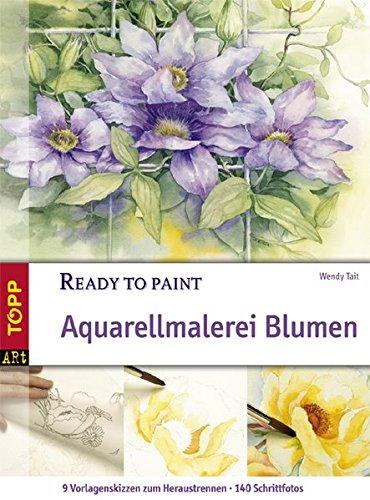 Aquarellmalerei Blumen (Ready to paint)
