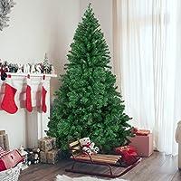 Best Choice Products - Árbol de pino artificial navideño con bisagras de primera calidad de 6 pies con soporte de metal sólido (verde)